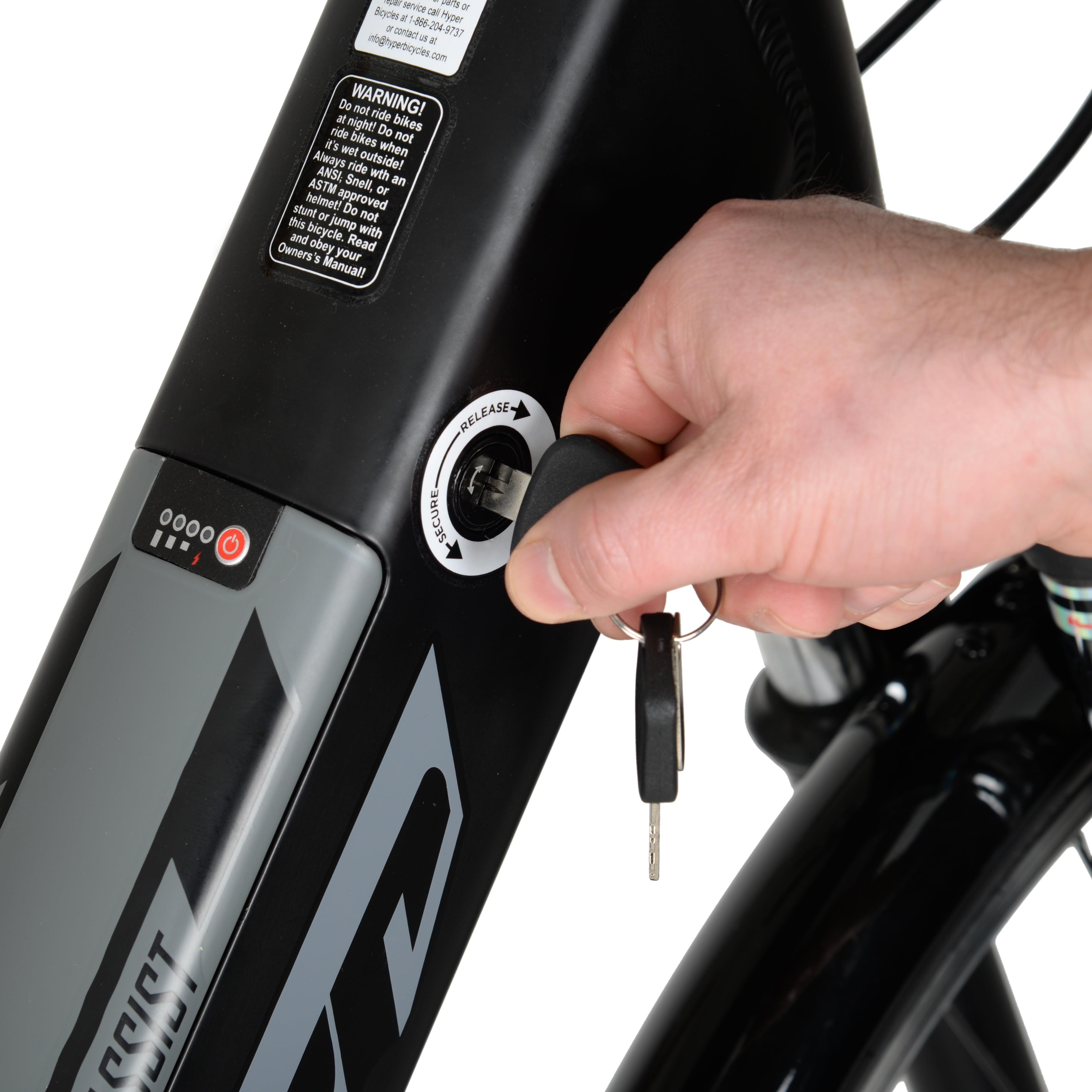 Hyper E-Ride Electric Bike 700C Wheels, 36 Volt Battery, 20+