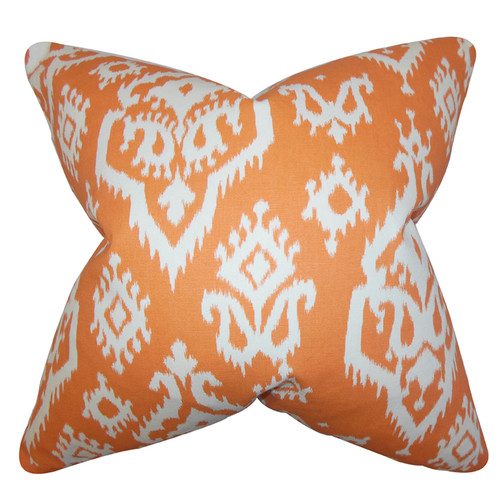 The Pillow Collection Baraka Ikat Throw Pillow
