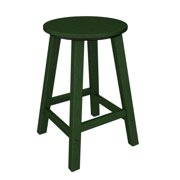 """24.25"""" Recycled Earth-Friendly Outdoor Patio Green Counter Round Bar Stool"""