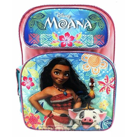 "Disney Moana 16"" Large school Backpack Girl's Book Bag"
