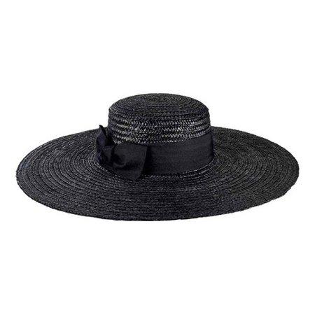 Women's San Diego Hat Company Wheat Straw Wide Brim Boater Hat - Boater Hats