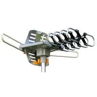 Amplified di gital HDTV Outdoor Antenna with Motorized 360 Degree Rotation - 150 Miles Range - Wireless Remote (WA2608)