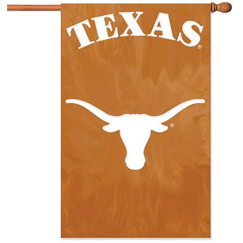 Texas Longhorns Applique & Embroidered Banner Flag NCAA