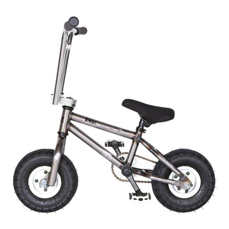 """Kobe """"Rusty Rat Rod"""" Mini BMX - Off-Road to Skate Park, Freestyle, Trick, Stunt Bicycle 10"""" Wheels for Adults and Kids - White - image 11 de 12"""