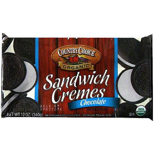 Generic Country Choice Organic Chocolate Sandwich Cookies, 7 Oz (pack