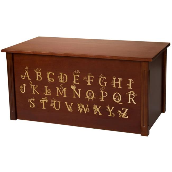Wood Creations WTC-ABC Dark Cherry Toybox with Full Alphabet