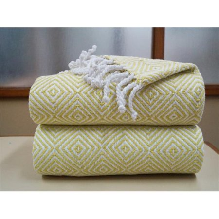 Image of Affinity Linens DATH100PCT-APL Soft 100-percent Cotton Diamond Throws - Apple