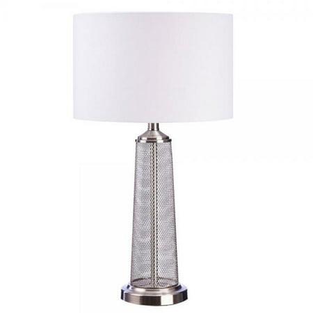 Catalina Lighting 20419 000 Metal Brushed Nickel Table Lamp