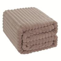 """Unique Bargains Flannel Fleece Duvet Cover Blanket Pink Twin 59"""" x 78"""""""