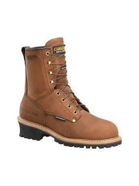 """Men's Carolina 8"""" Plain Toe Logger Waterproof Boot"""