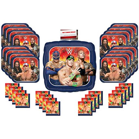 Planning A Halloween Block Party (Wrestling WWE The Rock John Cena Party Supplies Bundle Pack for 16 (Plus 17 inch Balloon Plus Party Planning Checklist by Mikes Super)