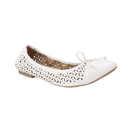 Womens Rialto Sofie Cutout Ballet Flats - White ()