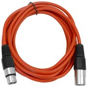 Seismic Audio  Red 10' XLR Microphone Cable - Patch Cord Red - SAXLX-10Red