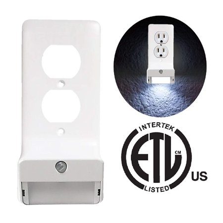 Snap-On LED Wall Plate Night Light - GuideLight Outlet Wallplate Night Light - 1 Step