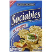Nabisco Flavor Originals Flavor Originals Sociables Baked Savory Crackers, 7.5 OZ (Pack of 6)