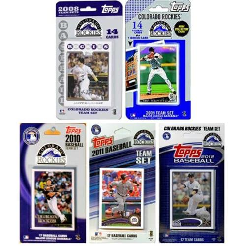 C & I Collectables ROCKIES512TS MLB Colorado Rockies 5 Different Licensed Trading Card Team Sets