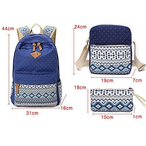 77e7dd66499c abshoo - Abshoo Canvas Dot Backpack Cute Lightweight Teen Girls Backpacks  School Shoulder - Walmart.com