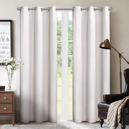 Blk Window (SUN+BLK Foam Back Blackout Grommet Curtain Panel Pair 42