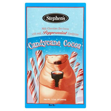 Stephens Gourmet Candycane Milk Chocolate Peppermint Hot Cocoa  1 4 Oz