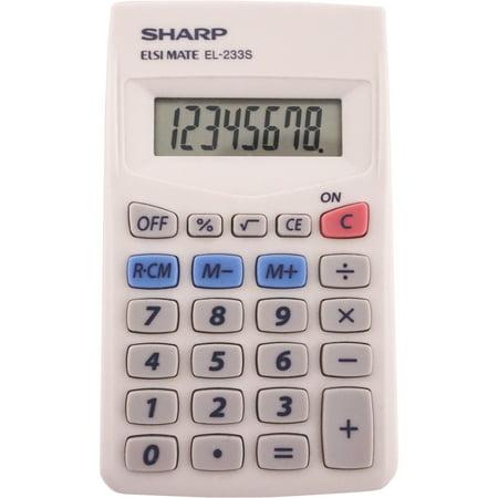 Sharp Calculators, SHREL240SAB, EL-240SAB 8-Digit Handheld Calculator, 1 Each,