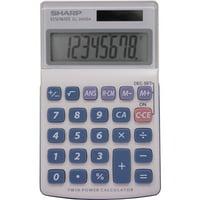 Sharp Calculators, SHREL240SAB, EL-240SAB 8-Digit Handheld Calculator, 1 Each, Gray,Blue