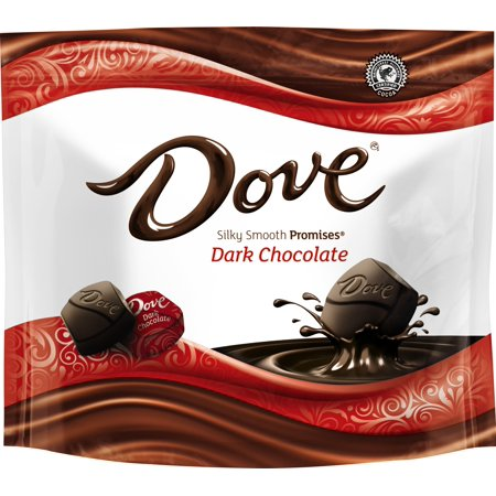 Dark Chocolate Glaze - DOVE PROMISES Dark Chocolate Candy Bag, 8.46 Ounce