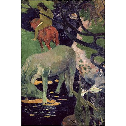 "Trademark Fine Art ""The White Horse 1898"" Canvas Art by Paul Gauguin"