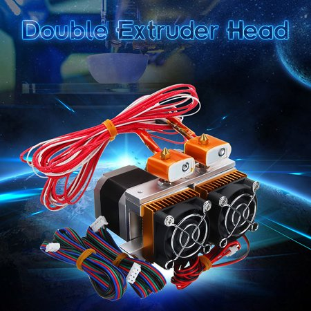 MK8 0.4mm Nozzle Upgrade Thermistor Extruder Dual Print Head For 3D Printer