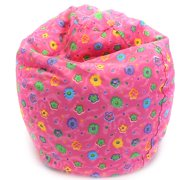 Print Bean Bag in Pink Flower