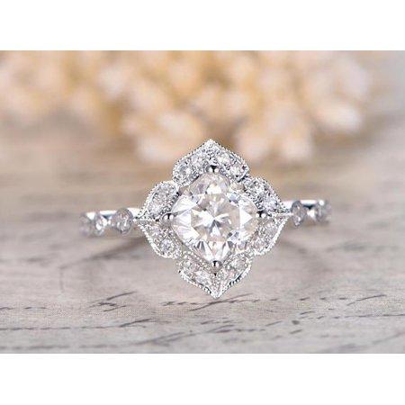 jeenmata 125 carat cushion cut moissanite and diamond