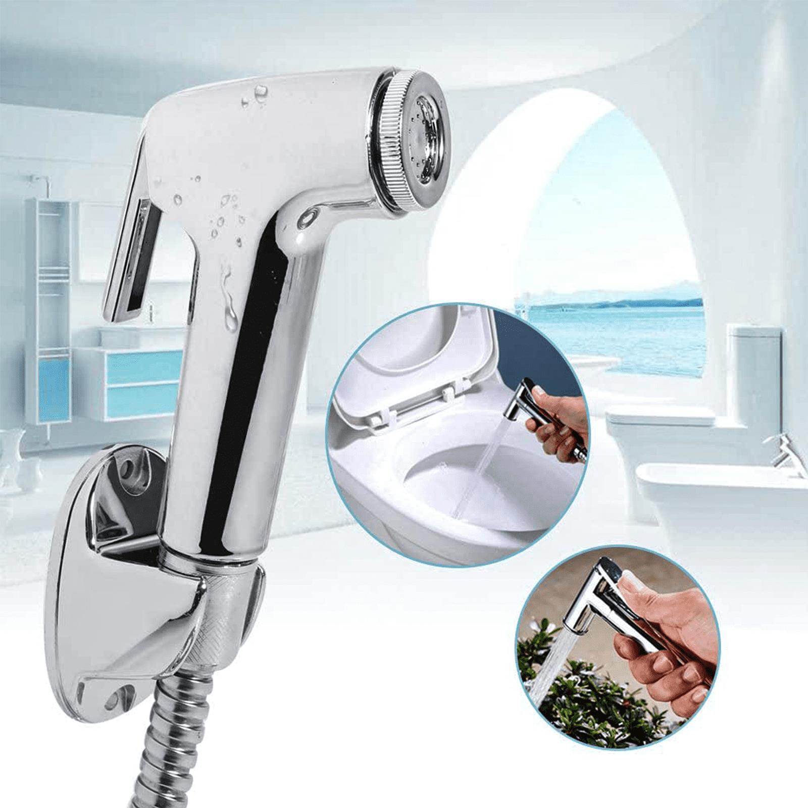Bathroom Hand held Handheld Diaper Sprayer Shower Bidet Spray Hose Holder Toilet