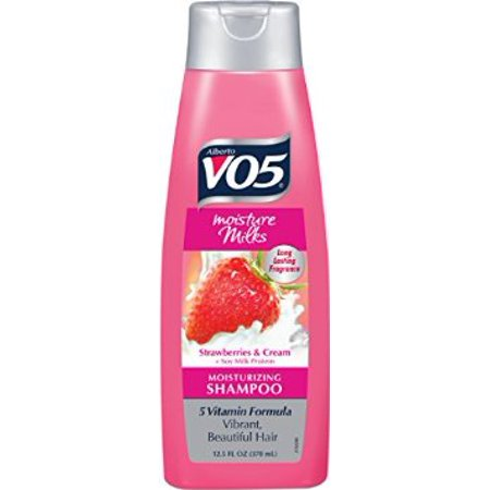 Vo5 Moisture Milks Shampoo - 6 pack: Alberto VO5 Moisture Milks Strawberries and Cream Moisturizing Shampoo, 12.5 oz