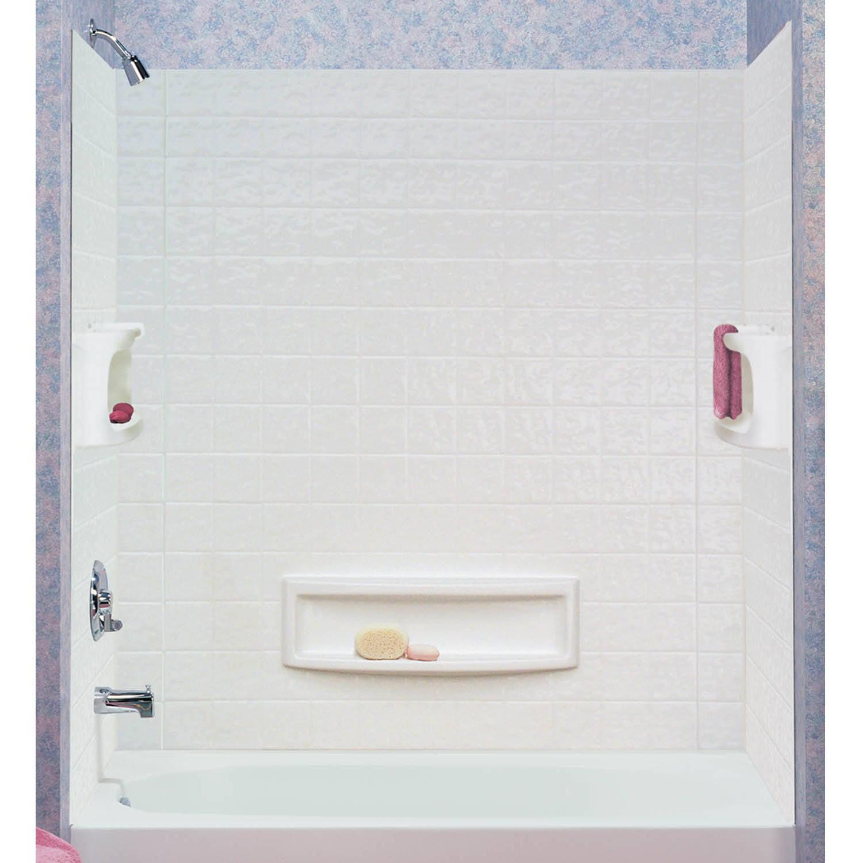 ASB 39094-HD 3-Piece White Distinction Tub Wall