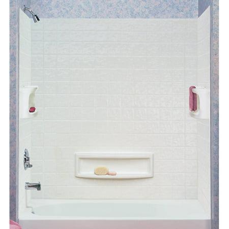 ASB 39094-HD 3-Piece White Distinction Tub Wall - Walmart.com