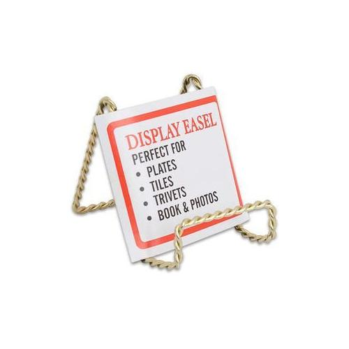 """3.25"""" Metal Gold Easel Plate Picture (Pack of 36)"""