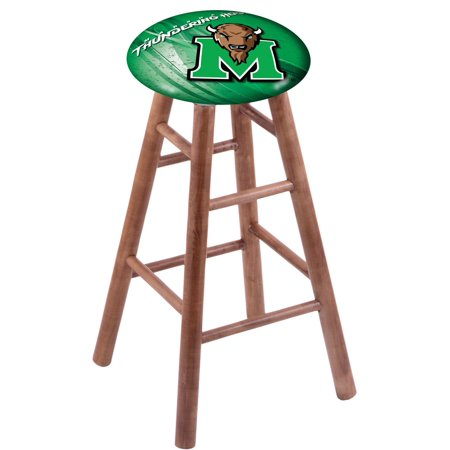 Maple Bar Stool in Medium Finish with Marshall Seat by the Holland Bar Stool Co. Maple Unfinished Bar Stool