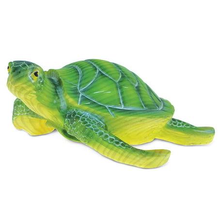 Puzzled Nautical Coastal Elegant ?Green Sea Turtle? Figure Ocean The Wild Decor Sea Life Theme Resin Handcrafted Figurine Unique Home Accent Kitchen Bedroom Living Room Gift Souvenir 2.5