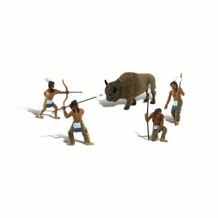 Native American Hunter Figurines 5/pkg