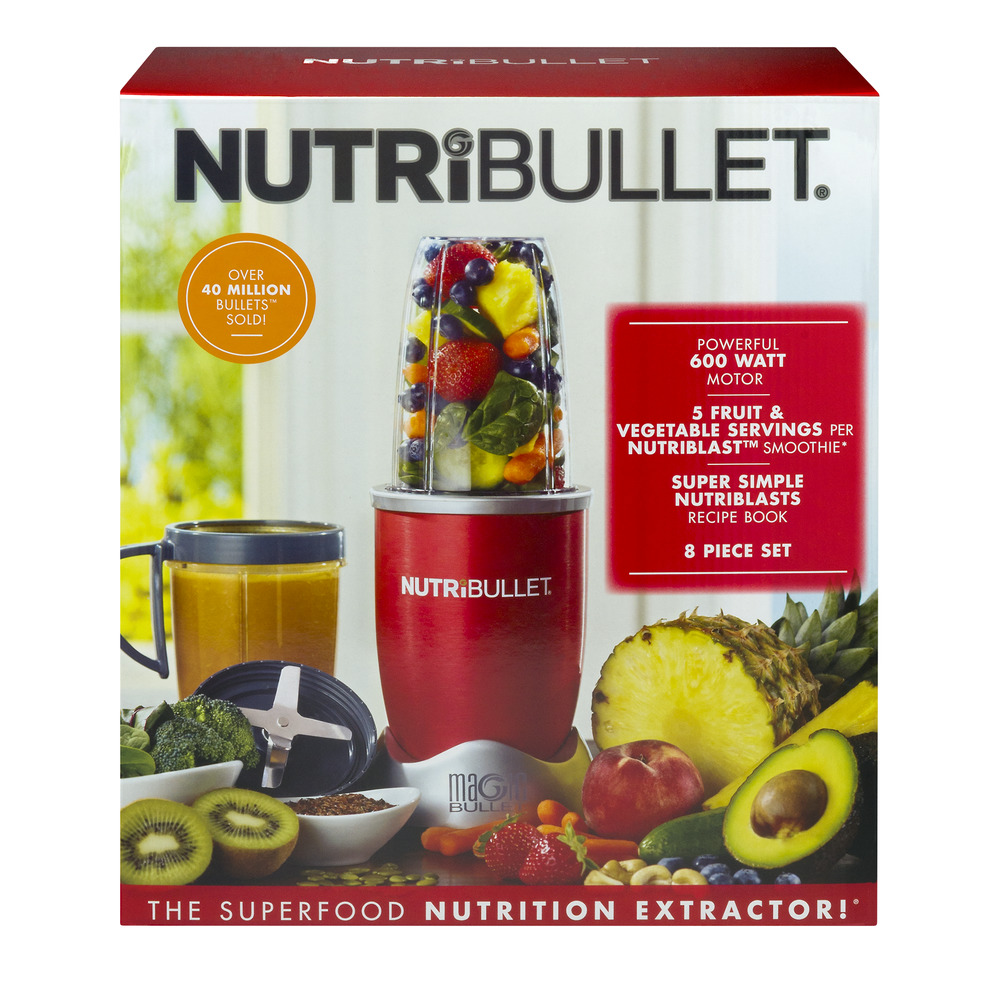 Magic Bullet NutriBullet Nutrition Extraction 8-Piece Mixer/Blender, As Seen on TV