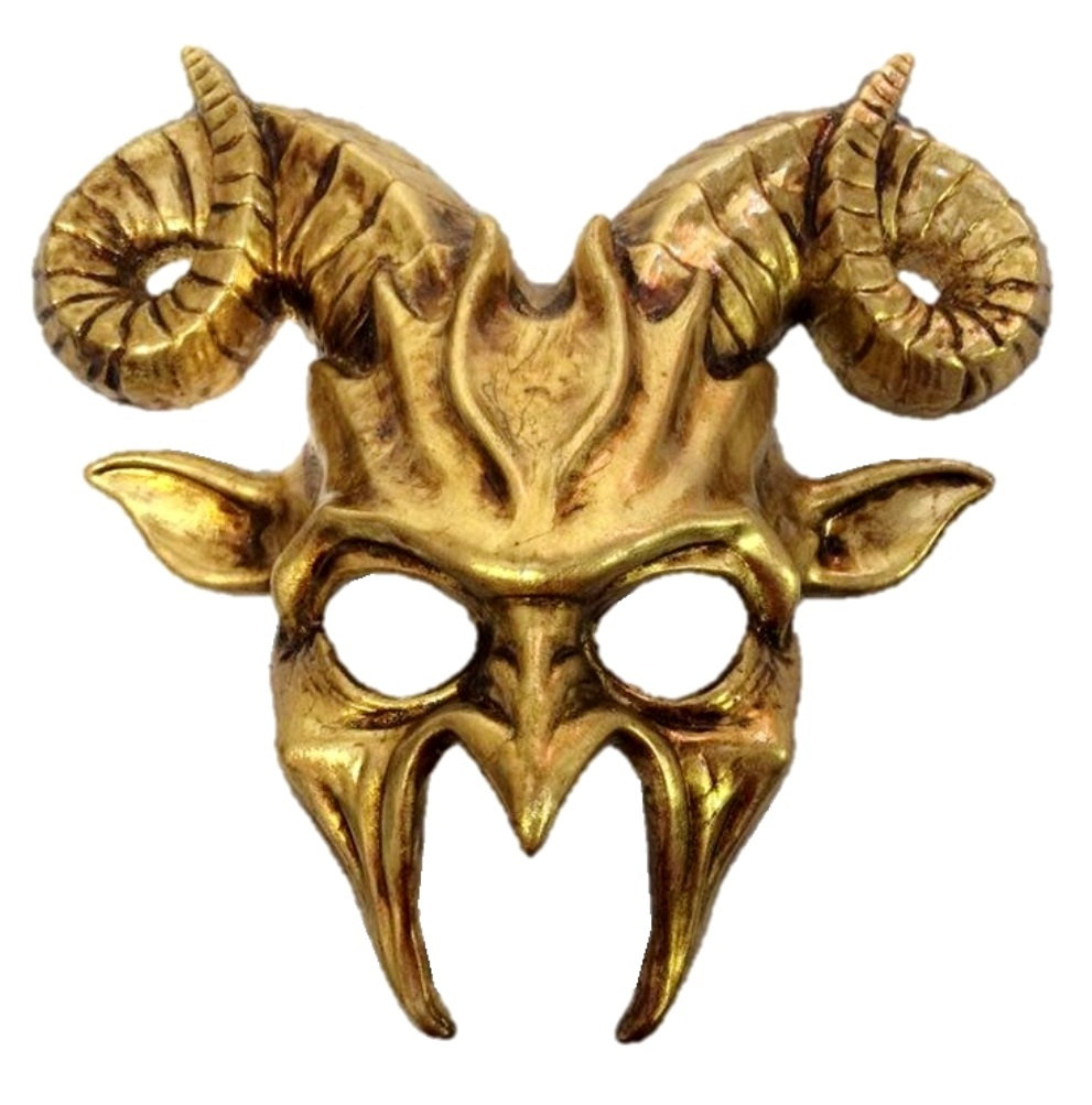 Goat Masquerade Mask Horn Adult Mens Animal Ram Venetian Costume Accessory  Gold   Walmart.com