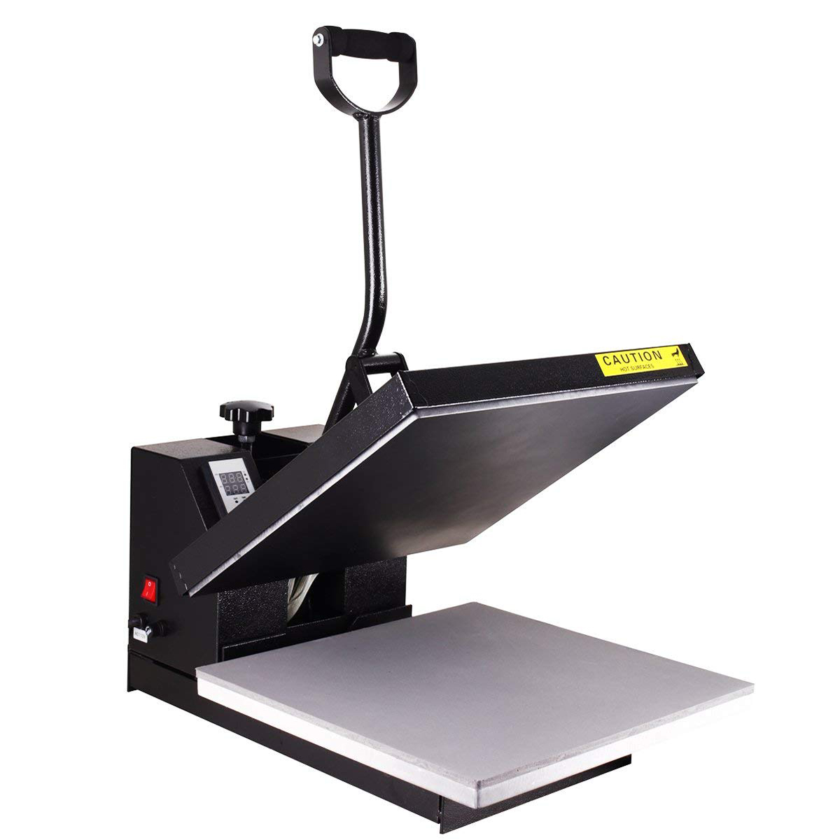 "Industrial-Quality Digital 15"" x 15"" Heat Press Machine Sublimation T-Shirt Power Press Black"
