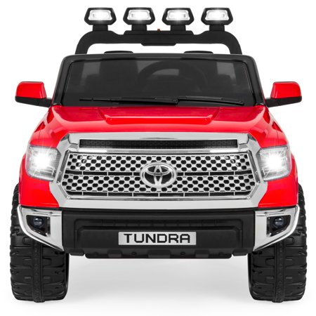 Best Choice Products 12V Kids Battery Powered Remote Control Toyota Tundra Ride On Truck w/ LED Lights, Music, Storage Compartment -