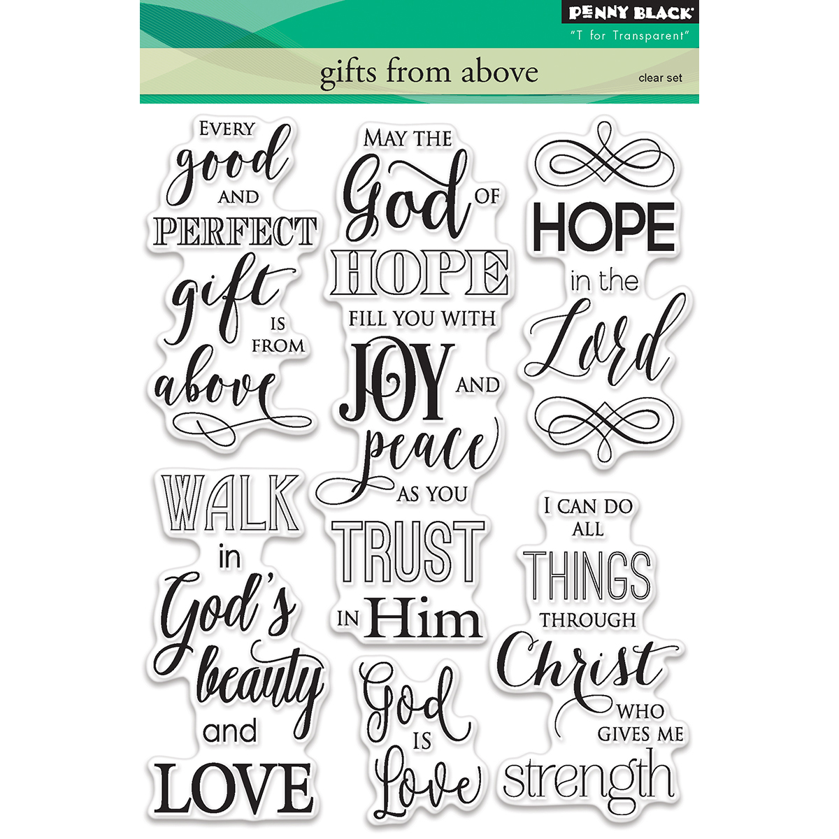 "Penny Black Clear Stamps 5""X7""-Gifts From Above"