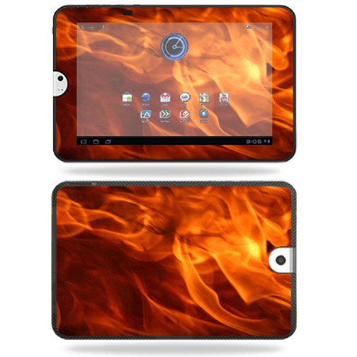 Mightyskins Protective Vinyl Skin Decal Cover for Toshiba Thrive 10.1 Android Tablet wrap sticker skins Back Draft