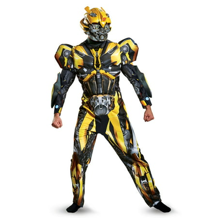 Transformers 5 Bumblebee Deluxe Men's Adult Halloween (50's To 80's Costumes)