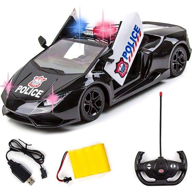 Remote Control Police Car Toy With Led Lights And Police Siren Sounds For Kids Boys And Girls Walmart Com Walmart Com