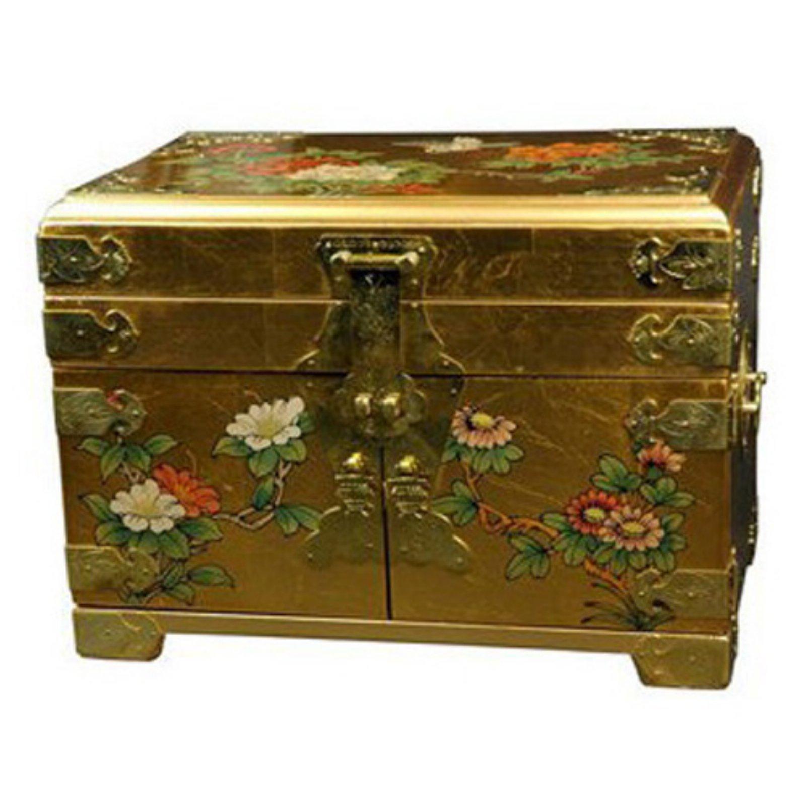 Oriental Furniture Daisi Jewelry Box - Gold