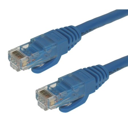 CableMAX 8ft Blue Cat6 Snagless RJ45 Ethernet Patch Cable, 24AWG 550MHZ Stranded UTP