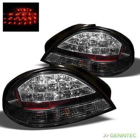 1999 2005 Pontiac Grand Am Led Black Tail Lights Rear Brake Lamp New Pair Left Right 2000 2001 2002 2003 2004