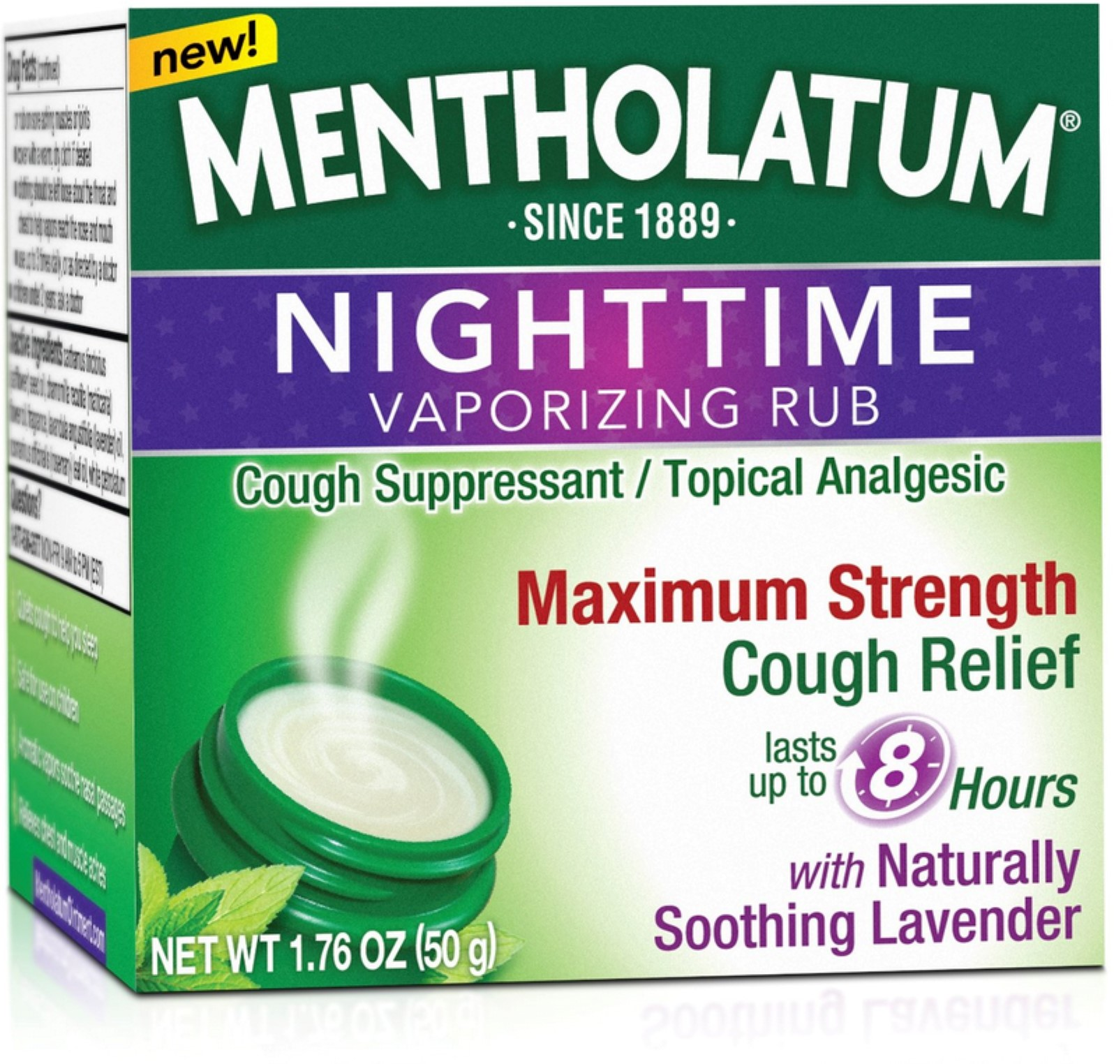Mentholatum Nighttime Maximum Strength Vaporizing Rub - 1.76 Oz